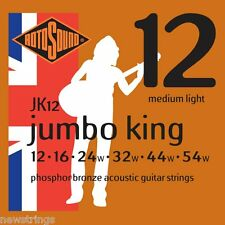 Rotosound Jumbo King JK12 Phos Bronze 12-54 medium LIGHT Acoustic Guitar Strings