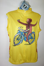 Primal Wear Cycling Jersey Curious George Women L NEW Sleeveless Euro Cut