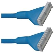 """8""""inch short SINGLE 1 device FD/Floppy Disk Drive Round/Rounded Cable/Wire {BLUE"""