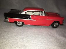 NOS VINTAGE DIECAST TOYS RED 1955 CHEVY BELAIR SCALE 1:24 MODEL CAR OLD SKOOL