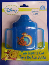 Winnie the Pooh Tigger Plastic Twin Handle Sippy Cup Baby Shower Party Gift Blue