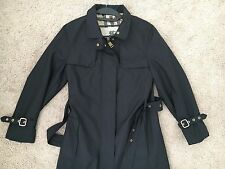 Black Burberry Tess Trench Coat Size 6