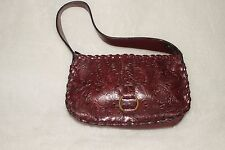 BONGO ~ Burgundy Floral Embossed Hand/ Shoulder Bag *EXCELLENT COND.