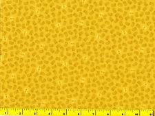 Small Gold on Yellow Masks Phantom Masquerade Quilting Fabric by Yard  #573