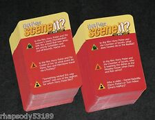 Harry Potter Scene It Trivia Game Card Set 2005 Mattel