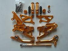 Kawasaki ZX6R 2005 2006 2007 2008 05 06 07 08 Poggiapiedi xp, oro NUOVO