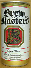BREW MASTER'S BEER, Pull Tab Top Can, PUERTO RICO, Lion