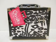 new caboodles train case makeup cosmetic organizer crave leopard storage mirror