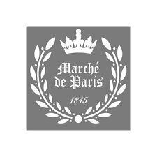 SHABBY CHIC VINTAGE STENCIL XL SCHABLONE MÖBEL KÜCHE ORNAMENT PARIS LE MARCHE