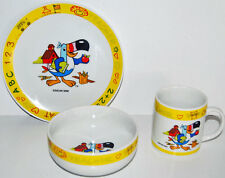 Vintage Papel Kelloggs  Fruit Loops Toucan Sam Plate Cup and Bowl Set