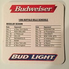Budweiser 1996 Buffalo Bills Schedule Coaster