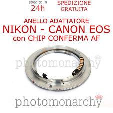 Anello adattatore CHIP CONFERMA AF obiettivo NIKON su CANON EOS 600D 650D 700D