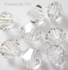 144x SWAROVSKI 5301 CLEAR CRYSTAL 4mm BICONE CRYSTAL BEAD