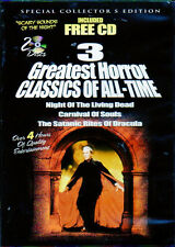 3 GREATEST HORROR CLASSICS OF ALL-TIME + SCARY SOUNDS OF THE NIGHT HALLOWEEN NEW