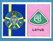 AUTO FLASH - Ed.COX - Figurina/Sticker n. 137+193 - KAK - LOTUS -New