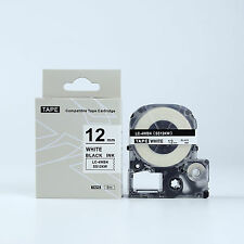 Compatible EPSON LC-4WBN Label Tape Black on white 12mm 8m LW400 LW300 LW700