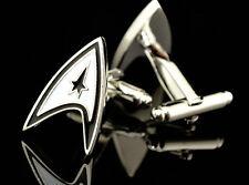 Star Trek Delta Shield Insignia Enterprise Science Fiction Men's Cufflinks