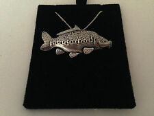 F36 Mirror Carp on a 925 sterling silver Necklace Handmade 18 inch chain
