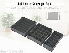 3pcs Bamboo Charcoal Fiber Bag Organizer Clothing Storage Containers for Bra