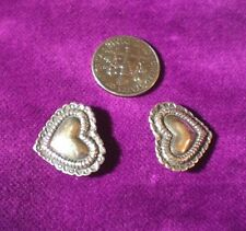 STERLING SILVER HEART WATCH BAND CONNECTOR PIECES /FINDINGS for Band