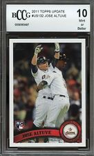 2011 topps update #us132 JOSE ALTUVE houston astros rookie card BGS BCCG 10