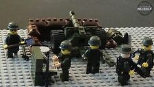 Artillery Gun AR-22 Fire Mission Base 5 Army minifigure soldiers Lego parts Set