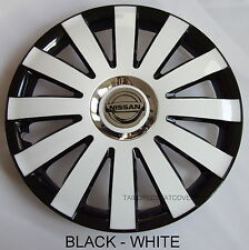 14'' Wheel trims Hub Cups for Nissan  4x14'' black - white