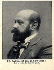 Il brillante architetto di Berlino Prof. Messel deceduto * immagine documento 1909