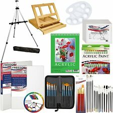 Art And Craft Supplies For Teens Adults Artists Acrylic Paint Canvas Brush Easel