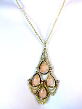 ELEGANT GOLDEN MULTI STONE LAYERED NECKLACE BRAND NEW PARTY / CASUAL WEAR (CL2)