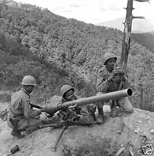 Korean War Ethiopian Troops Gunners UN from Addia Ababa 4x4 inch Reprint Photo