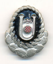 CROATIA Paramilitary unit HOS of the USTASHA ideology Cap badge from 1991 type 2