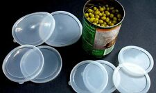 Can Covers Set of 6 Plastic Tops Pet Food Assorted Size Lids Al-De-Chef