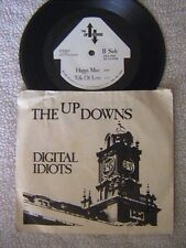 """THE UP-DOWNS """"DIGITAL IDIOTS"""" 7"""" 4 SONG E.P. PICTURE SLEEVE PUNK 1985"""