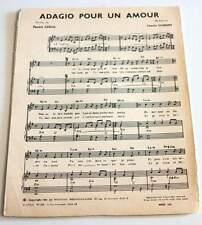 Partition sheet music PATRICK ABRIAL / CHARLES DUMONT : Adagio pour un * 60's