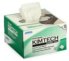 "NEW KIMBERLY-CLARK KIMWIPES LINT FREE CLOTH BOX OF 280 KIM WIPES 4.4"" x 8.4"""