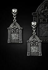 Restyle Ohrringe Grabstein Tombstone Earring Gothic Lolita Horror Steampunk WGT