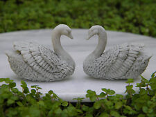 Miniature Dollhouse FAIRY GARDEN Accessories ~ Pair of Gray Swan Statues ~ NEW