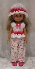 """LES CHERIES Corolle 13"""" Doll Clothes #26 Top, Hat & Pants Set   14"""" Betsy McCall"""