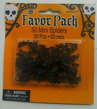 Halloween Pack of 50 Plastic Mini Spiders Favor Party Bag  Table Decoration