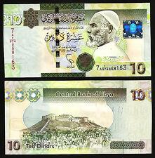 LIBYA 10 DINARS 2011 UNC PREFIX 7A -  DE LA RUE PRINT - P 73 NEW