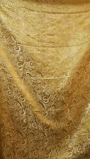 "3M GOLD COLOUR PAISLEY METALLIC BROCADE /JACQUARD FABRIC 58"" WIDE cheapest"