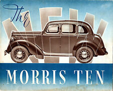 Morris Ten-Four 10-4 Series M 1938-39 UK Market Sales Brochure