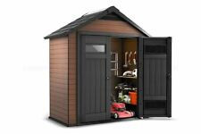 Keter All Weather Maintenance Free Outdoor Fusion Garden Shed 7.6 x 8.2 x 4ft