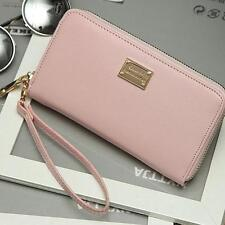 Lady Women PU Leather Long Purse Wallet Clutch Zip Around Bag Card Holder