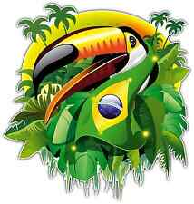 "Brazil 2014 Bird Football Soccer Car Bumper Window Sticker Decal 4""X5"""