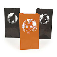 12 Halloween Silhouette Luminary Bags CANDLE LIGHT YOUR HAUNTED HOUSE DRIVEWAY
