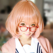 Lolita Fashion Pink Bob Wig Short Wavy Curly Hair Anime Cosplay Party Wigs