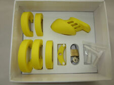 Yellow Silicone Chastity Belt CB Small Sexy Fetish Free U.K Delivery
