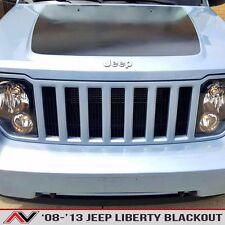 Jeep Liberty KK hood blackout Matte Black Install kit Free Ship Fits: 2008-20013